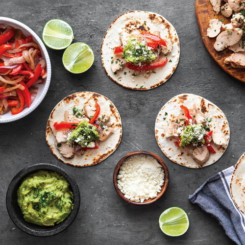 Garlic Lime Glazed Fajitas